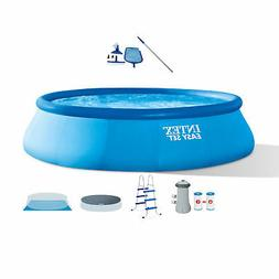 """Intex 15' x 42"""" Inflatable Swimming Pool w/ Ladder, Cover, P"""