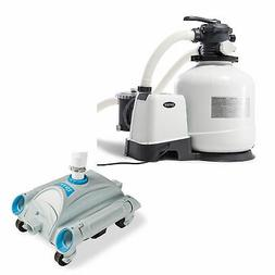 Intex 3000 GPH Above Ground Pool Sand Filter Pump and Automa