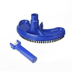 "9.75"" Classic Blue Curved Liner Vacuum Head for Swimming Poo"