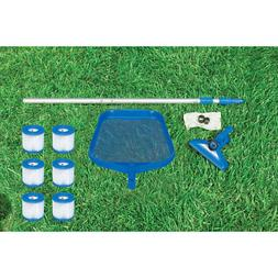 cleaning maintenance swimming pool kit with vacuum