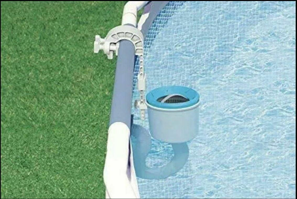 swimming pool deluxe surface skimmer wall mount