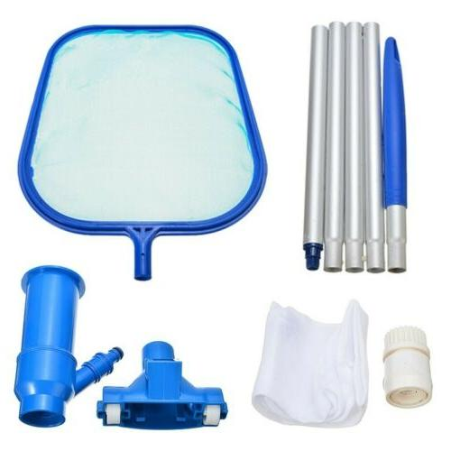 Swimming Pool Vacuum Head Cleaner Skimmer Net Aluminum Rod D