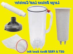 Leaf Canister & Basket for Swimming Pool Vacuum Cleaner Vac