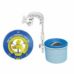 Pool Blaster Battery Powered Leaf Vacuum and Wall Mount Auto